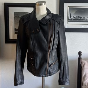 {Kenneth Cole} New York Leather Moto Jacket